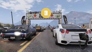 GTA 5 MOD - DRAG GTR RACE ATTEMPT - NO COMMENTARY (GTA 5 REAL LIFE PC MOD) 4K