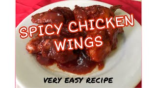SPICY CHICKEN WINGS (very easy recipe)