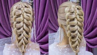 Прически.Красивая прическа на средние волосы.Beautiful Hairstyle