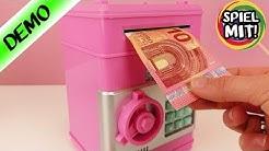 GELDAUTOMAT FÜR ZUHAUSE MIT GELDSCHEIN EINZUG - Tresor für das Kinderzimmer | elektronische Spardose