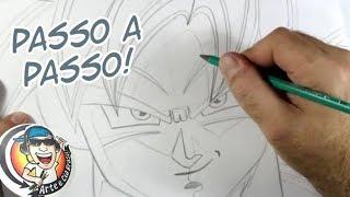Como desenhar Goku Ultra Instinct - Dragon Ball Super