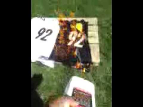new arrival 75cc3 314d8 Steelers fan burns the james Harrison Jerseys