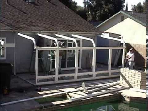 Lovely Curved Sunroom Installation Video   YouTube