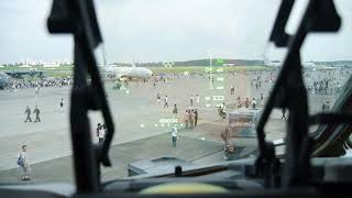 米軍 C17輸送機のコックピットとHUD