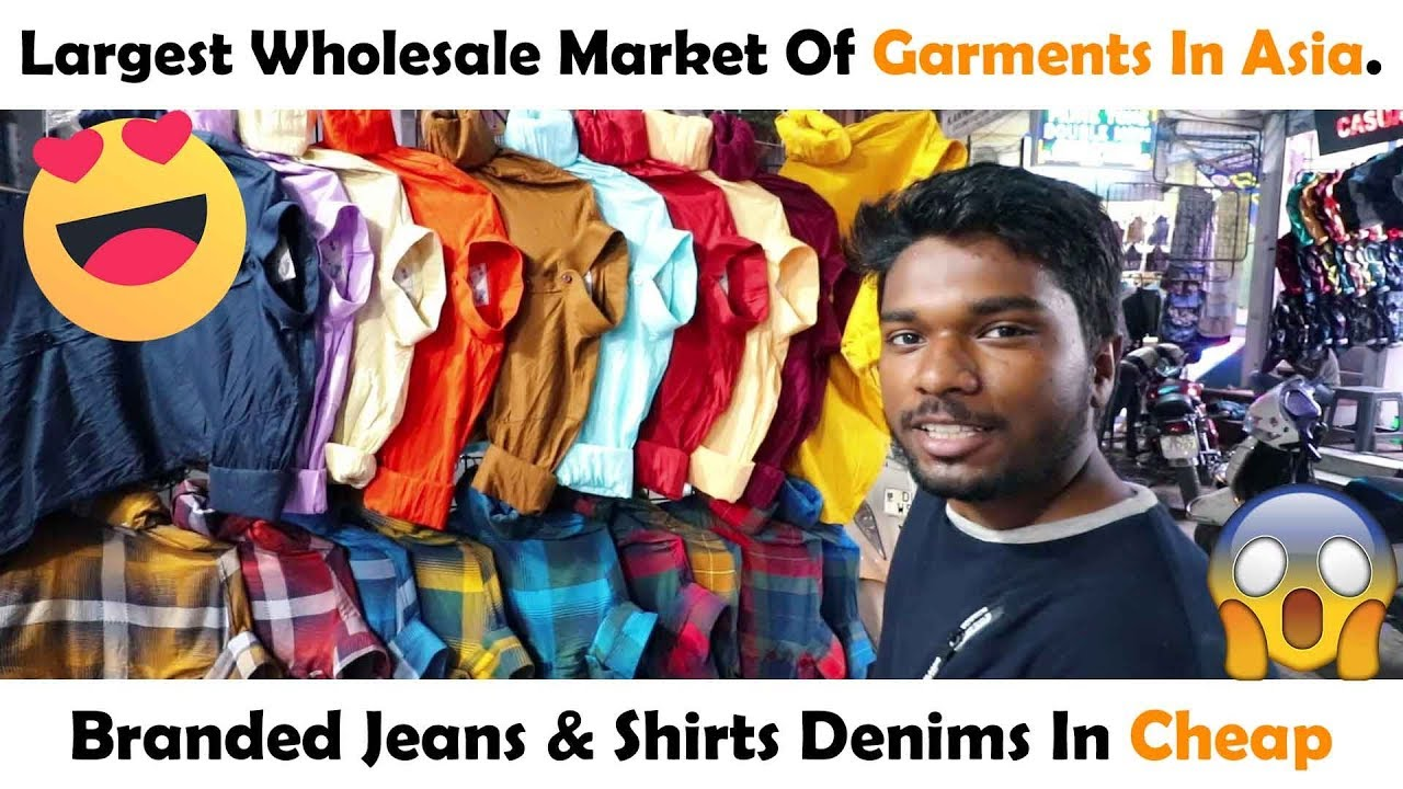 39c78641e3 Tank Road Wholesale Market | Branded Jeans & Shirts In Cheap Price | KAROL  BAGH MARKET | Vlog 19th