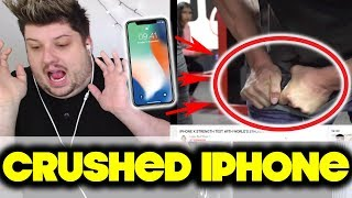 IPHONE X STRENGTH TEST WITH WORLD'S STRONGEST MAN! | REACTION!