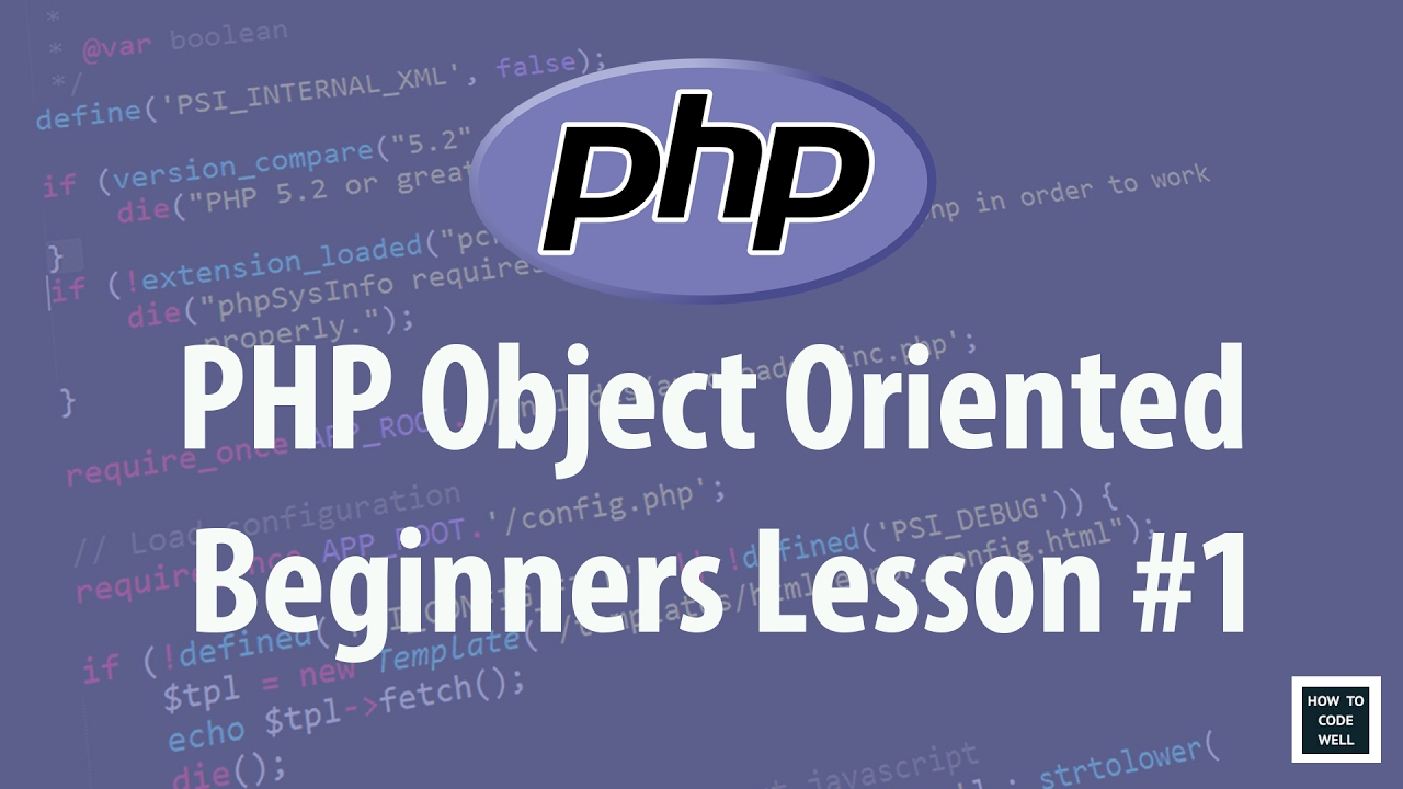 object oriented programming php for beginners pdf