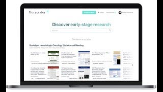 Morressier early stage research discovery