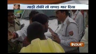 BJP MLA Sriram Sonkar Showcases His Power On A Lucknow Traffic Police