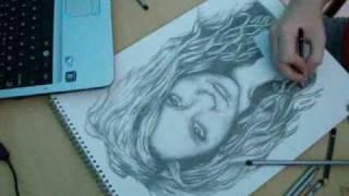 wwestevo07Art: Ke$ha Speed Drawing