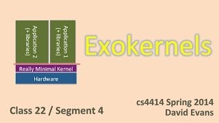 Exokernels (and beyond?)