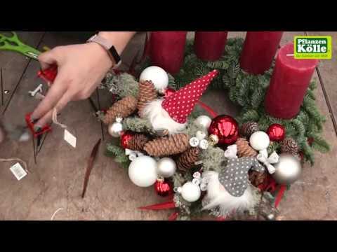 Kölle Weihnachtsdeko.Adventskranz Gestalten I Pflanzen Kölle