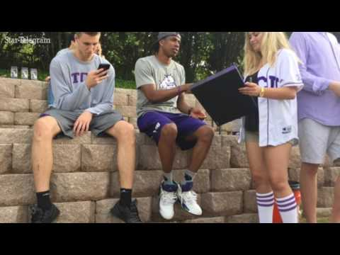 Scenes from the TCU basketball party at Lupton Stadium