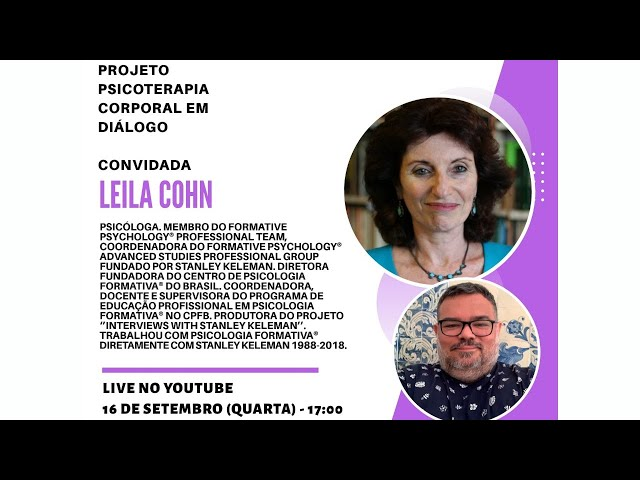 Psicoterapia Corporal em Diálogo 61 - Leila Cohn
