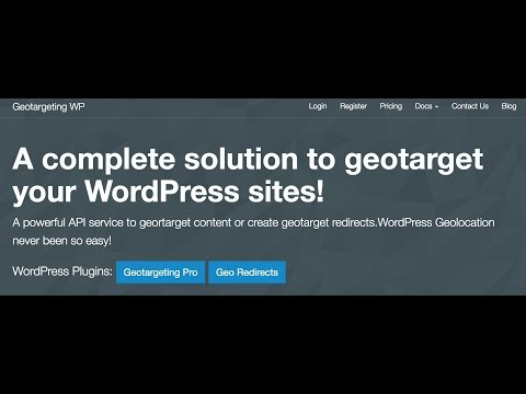 Geotargeting WP Service Review