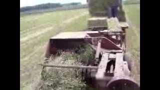 ih 46 baler and farmall 656 tractor baling hay