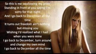 Back to december (european version) - taylor swift lyrics