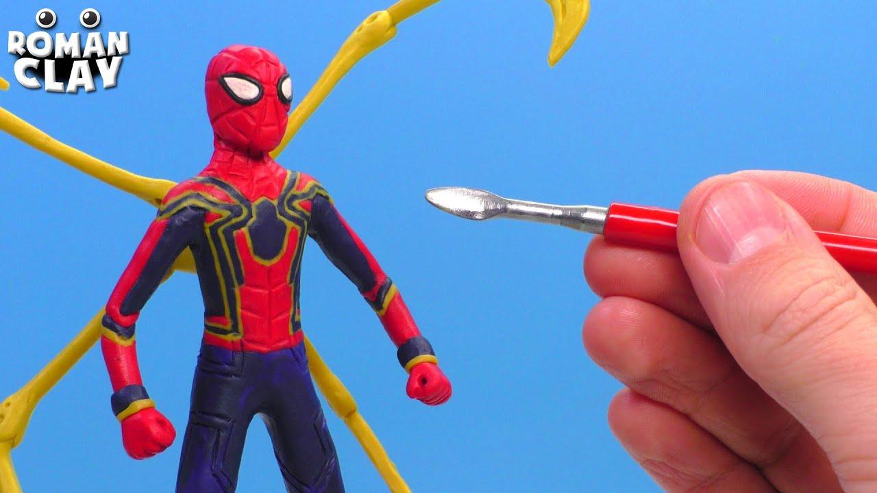 Iron SPIDER MAN with Clay | Spider-Man: No Way Home - Roman Clay Tutorial