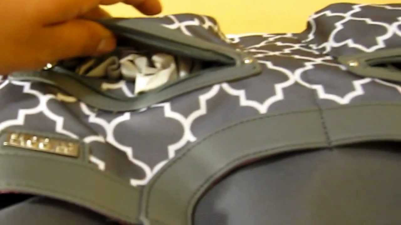 jj cole satchel diaper bag close up youtube. Black Bedroom Furniture Sets. Home Design Ideas