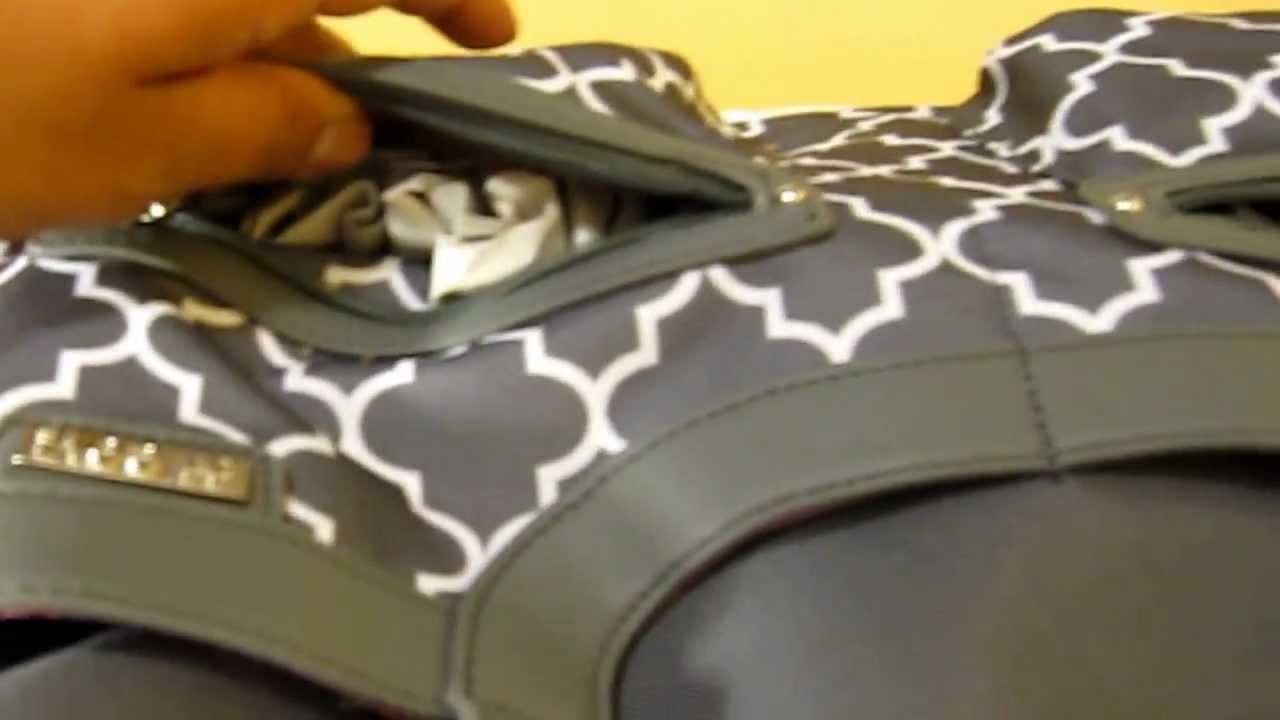 jj cole satchel diaper bag close up youtube. Black Bedroom Furniture Sets. Home Design Ideas