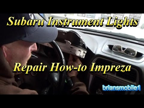 Subaru Instrument Light Replacement How To
