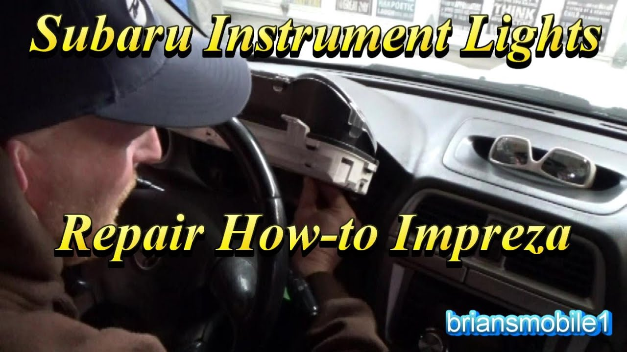 Subaru Instrument Light Replacement How To Youtube