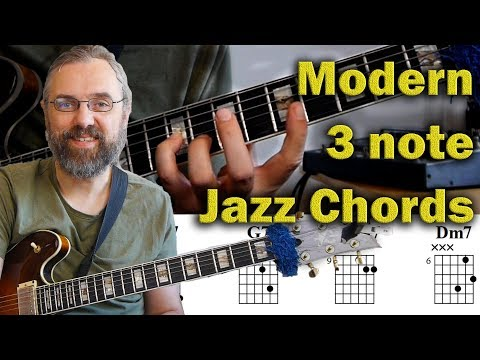 Modern 3 note voicings and voice leading - How to find new jazz chords