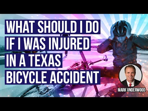 What should I do if I was injured in a Texas bicycle accident?