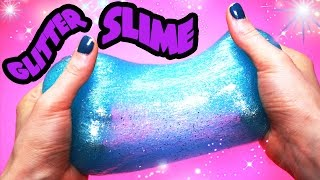 How to Make Slime Glitter! Super Slimy! BEST RECIPE EVER!!! OMG!! | Toy Caboodle