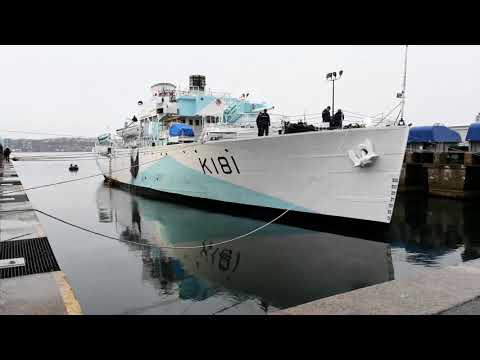 HMCS Sackville Time Lapse on Syncro Lift for Refit