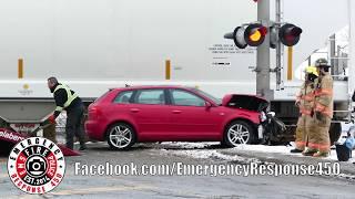 Longueuil: Accident auto Vs train dans le quartier industriel 2019-01-15