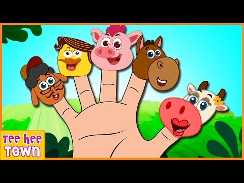 Farm Animals Finger Family | Old MacDonald had a Farm | Nursery Rhymes for Children by Teehee Town