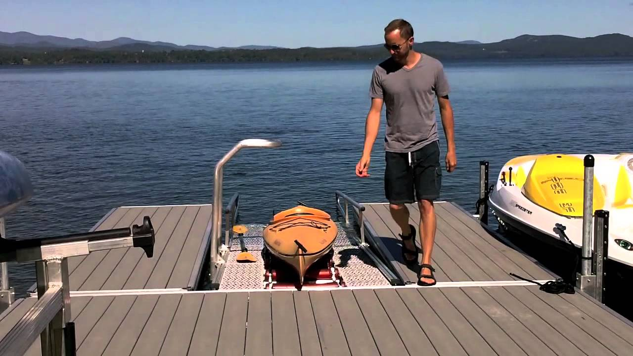 Kayak And Canoe Launch Dock By The Dock Doctors Youtube