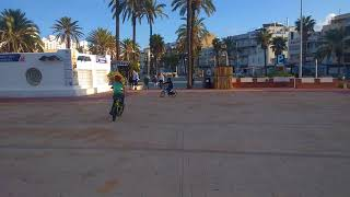 TJ Flash on his bike in Spain