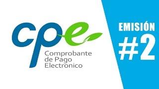 CPE #2   Emisión de un recibo por honorarios electronico