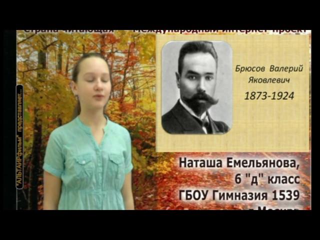 Изображение предпросмотра прочтения – НаташаЕмельянова читает произведение «Родной язык» В.Я.Брюсова