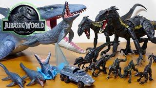 ジュラシックワールド 炎の王国 お気に入りのモササウルス&インドラプト...
