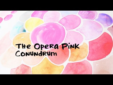 Watercolor Series- The Opera (pink) Conundrum