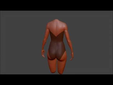 clothing in sculptris - Swimsuit - 8x timelapse