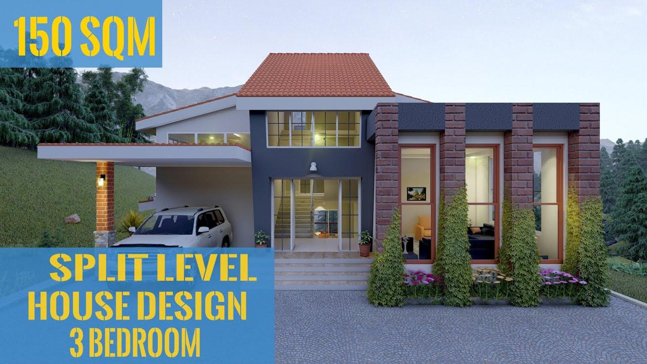Split Level House Design 3bedroom 150 Sqm 1614 Sqft Ghar Ka Naksha Youtube