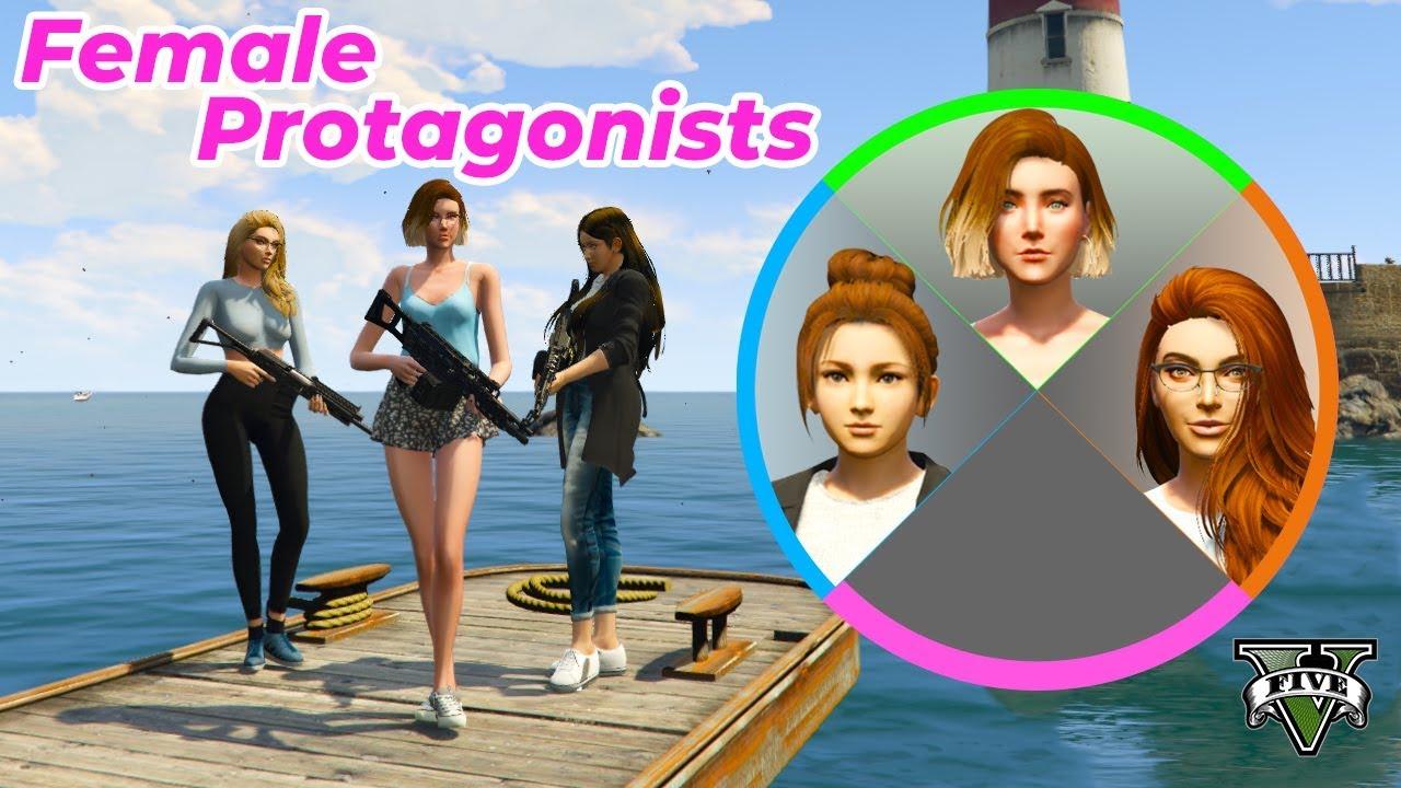 GTA V Beautiful female character - YouTube