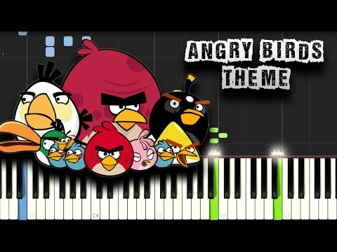 Angry Birds Theme Song - Piano Tutorial Synthesia (Download MIDI)