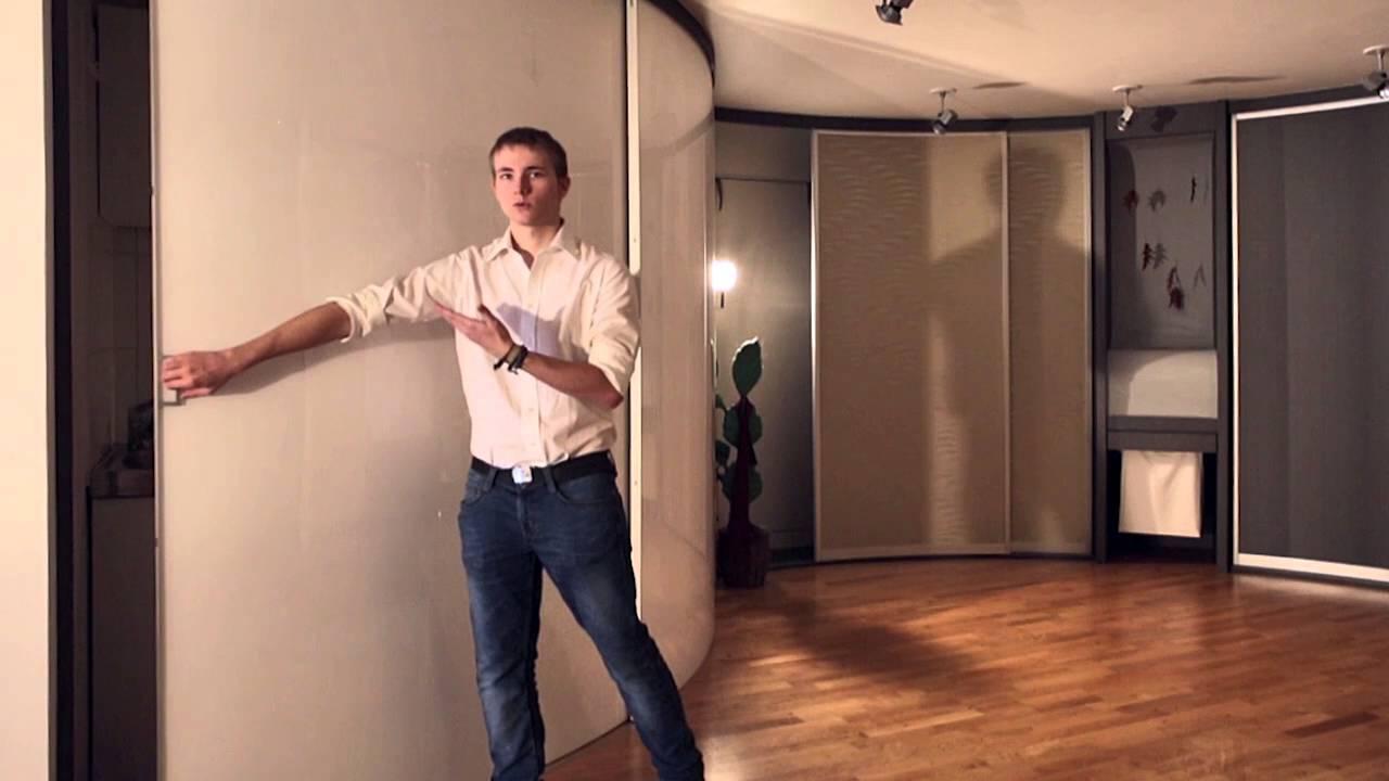 Aufzu Raumteiler Trennwand Bewegliche Schranktüren Youtube