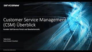 Customer Service Management (CSM) Überblick