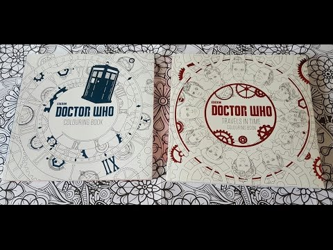 new doctor who travels in time colouring book review - Doctor Who Coloring Book