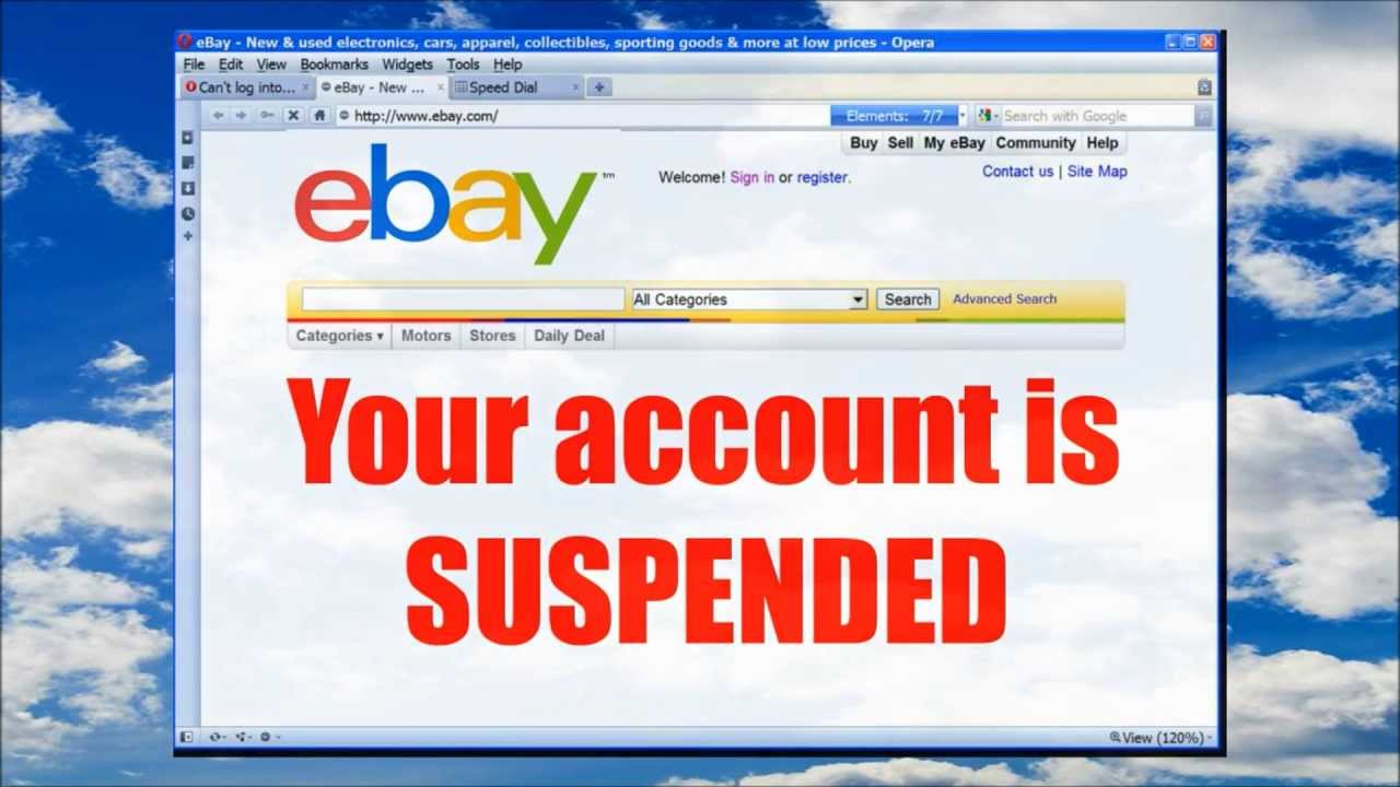 EBAY ACCOUNT SUSPENDED? Get Back on easily and FAST! - YouTube