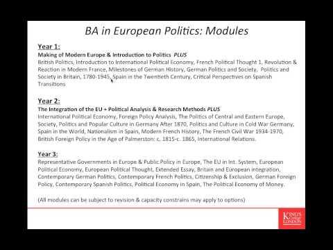 European & International Studies Webinar