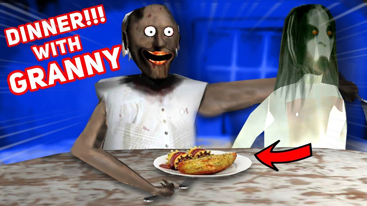 Having Dinner WITH GRANNY AND SLENDRINA!!! | Granny Horror Mobile Game
