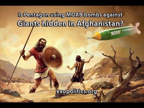 Is Pentagon using MOAB bombs against Giants hidden in Afghanistan?