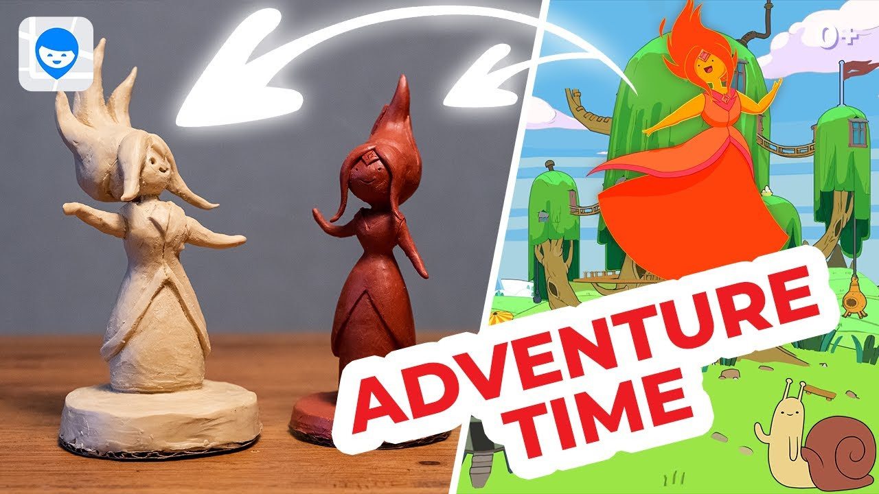 Принцесса Огня из скульптурного пластилина    Flame Princess from sculpture clay    Adventure Time